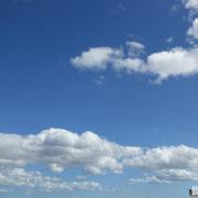 台風一過で戻った青空と南風